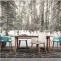 写真の壁紙3D立体空間カスタム大規模な壁紙の壁紙 手描きの森の壁の装飾リビングルームの寝室の壁紙の壁の壁画の壁紙テレビのソファの背景家の装飾壁画-200X140cm