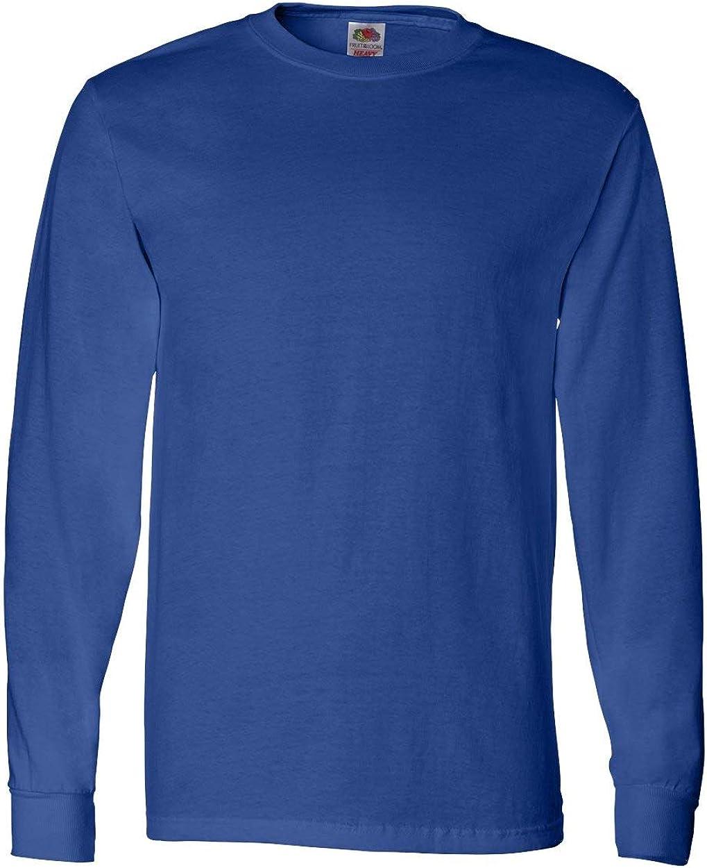 Fruit of the Loom Men's Long Sleeve Cotton T-Shirt