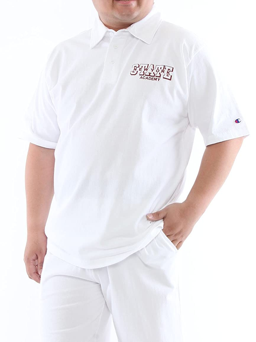 可能にするバーター解明する(チャンピオン) Champion 綿100% プリント 半袖 ポロシャツ