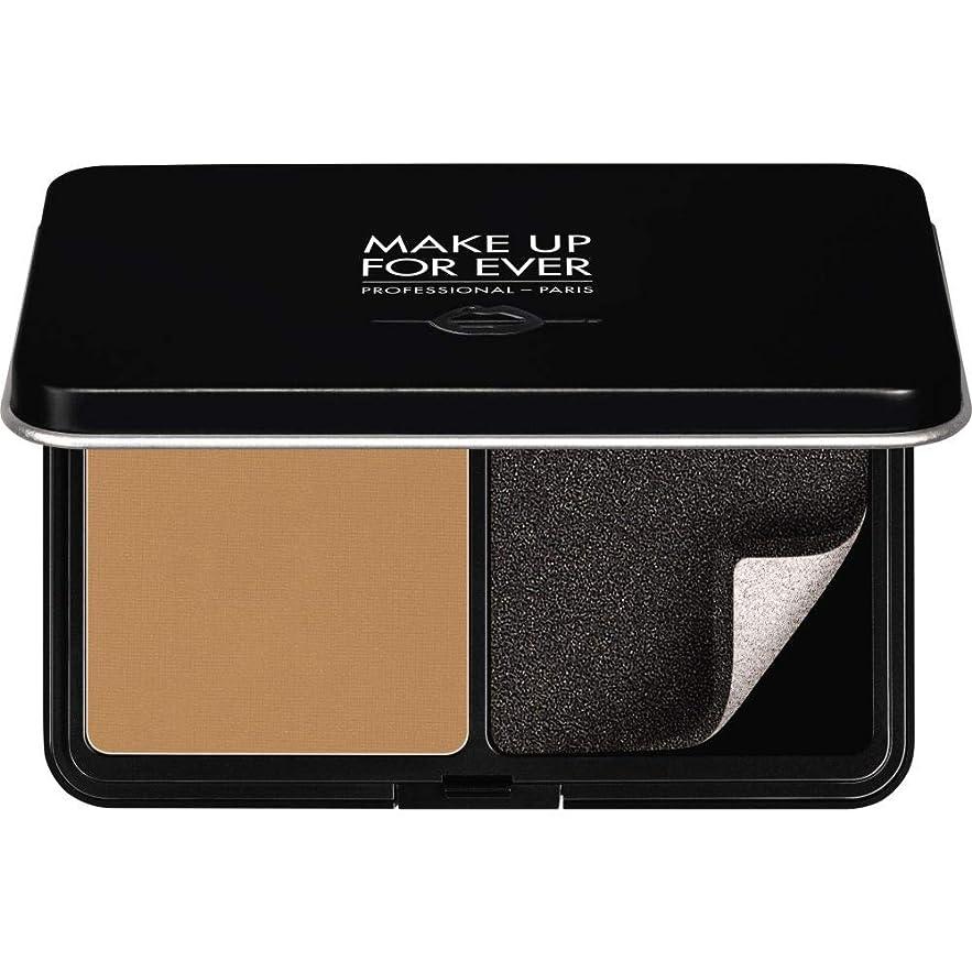 影シード必要[MAKE UP FOR EVER ] パウダーファンデーション11GののY415をぼかし、これまでマットベルベットの肌を補う - アーモンド - MAKE UP FOR EVER Matte Velvet Skin Blurring Powder Foundation 11g Y415 - Almond [並行輸入品]