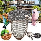 バードフィーダー屋外キャリングどんぐりのバードフィーダー、メタルハンギング鳥シードフィーダ、鳥食品ディスペンサー、