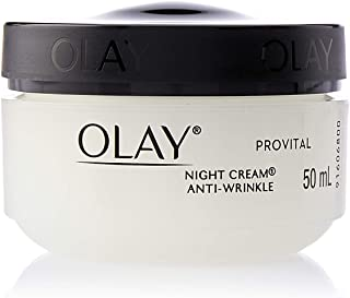 Olay Anti-Wrinkle Provital Night Cream for Mature Skin, 50 ml