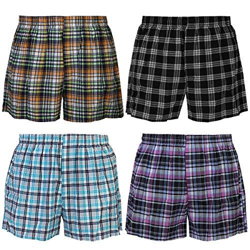 Falari 4-Pack Boy Boxer Underwear 100% Cotton Premium Quality (Group 5, XL (10-12 Years))