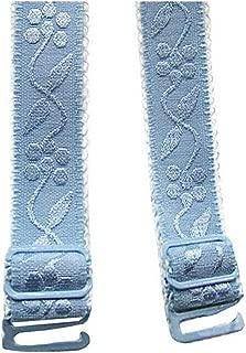 1 Pair 34Cm Slip Resistant Bra Straps Women Double Shoulder Elastic Bra Strap Multicolour,Blue