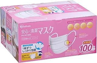 アイリスオーヤマ マスク 小さめ 安心・清潔 個包装 100枚入 PK-AS100S(PM2.5 花粉 黄砂対応)