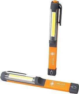 Helios Tool COB 200 Lumen LED Portable Handheld Inspection Pen Light – 2 Pack