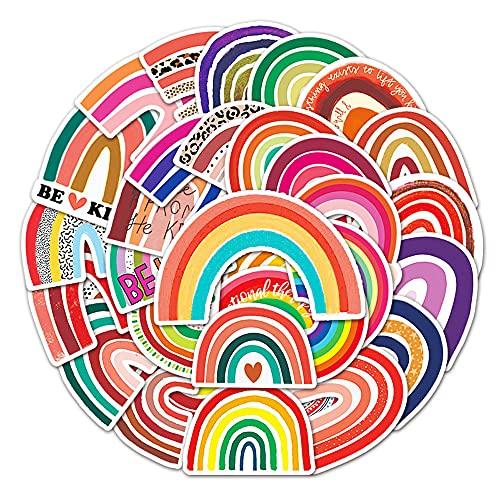 STKCST Rainbow Bridge Anime Dibujos Animados Paquete de Pegatinas de Bricolaje Cuaderno Creativo Pegatina Calcomanía Decoración Maleta Stikers Coche Lindo Vinilo estético refrigerador Personalizada