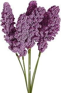 pittospwer 1 Ramo de Flores Artificiales simulación Plantas Boda Bricolaje Decoración de Fiesta Fiesta Dark Purple