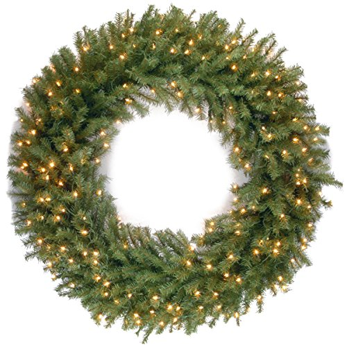 National Tree 48 Inch Norwood Fir Wreath with 300 Warm White...