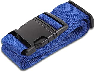 Blue Luggage Belts Suitcase Straps Adjustable and Durable, Name Card, Travel Case Accessories, 1 Pack