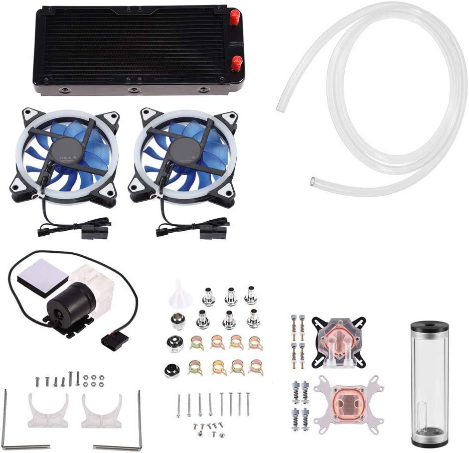 Mugast CPU GPU Cooler Houston Mall Max 79% OFF Water Cooling Kit H Pump 600L 240m +