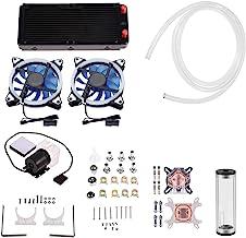 Bewinner1 DIY 240 mm All-in-one Liquid CPU/GPU Block Pump Reservoir Water Cooling Kit with LED Fan Heat Sink Computer Wate...