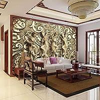 Empty 写真の壁紙3Dステレオレリーフ彫刻壁画ヨーロピアンスタイルHDヴィンテージリビングルームホテルの装飾壁紙PapelDe Parede 3D-150x120CM