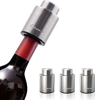 WUCUMS Wine Vacuum Stopper and Wine Aerator Pourer Set,Black