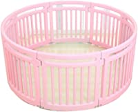 ZP massage Baby Playpen With 8 Panels,Children's Indoor Play Fence, Baby Home Playground Toy Fence Treatment (Color : Pink)