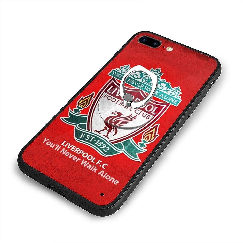 少数気取らない大声でリバプール LiverpooliPhone 7/8 Plusケースリングブラケット 携帯カバー 創意デザイン軽量 傷つけ防止 360°回転ブラケット 携帯ケース PC 衝撃防止 全面保護