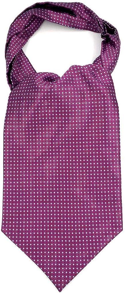 Purple Dots Men's Ascot Bowtie and Cummerbund Set Jacquard Woven Gift