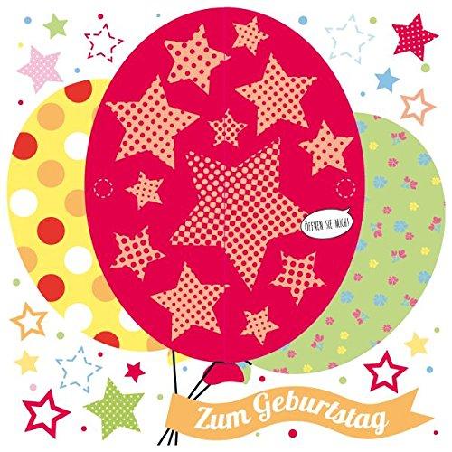 Susy Card verjaardagskaart, afmetingen: 15 x 0, 2 cm ballonnen