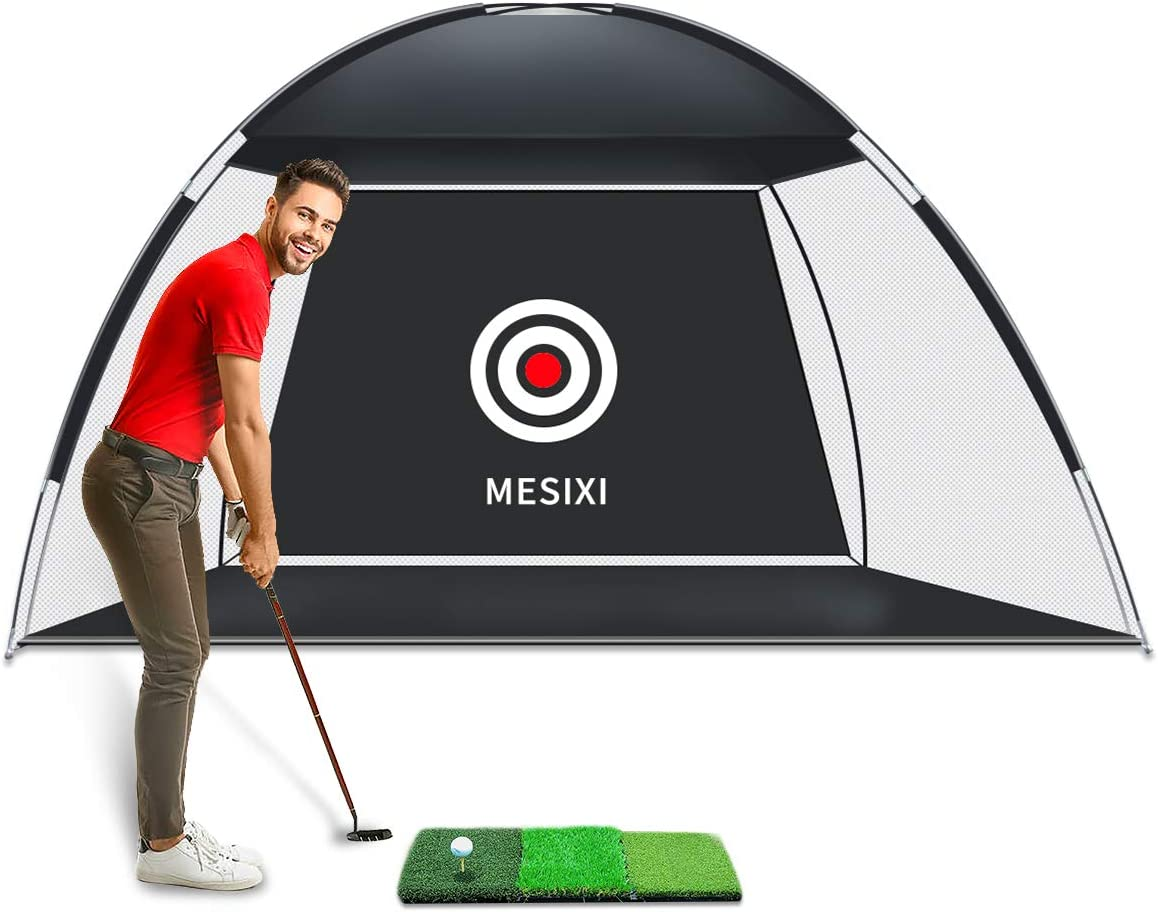 Upgraded Golf Net Golf Hitting Nets Training Aids Practice Nets for Backyard or Driving Range Swing Hitting Chipping Equipped with 3-in-2 Golf Mat and Solid Real Golf Balls for Indoor Outdoor Sports : Sports & Outdoors