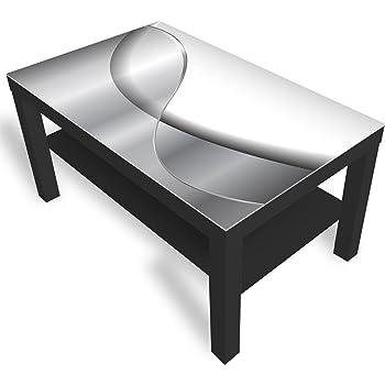 IKEA WOHNZIMMERTISCH MIT Rollen + Glasplatte EUR 139,00