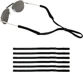 6Pcs Adjustable Eyewear Retainer Strap, Universal Fit Rope Eyewear Sport Sunglass Retainer Holder Eyeglasses Neck Cord String Strap Black