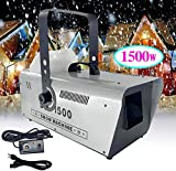Snow Machine, Yoken 1500W Snow Flake Effect Maker Professional for Stage DJ Party with Wired Remote