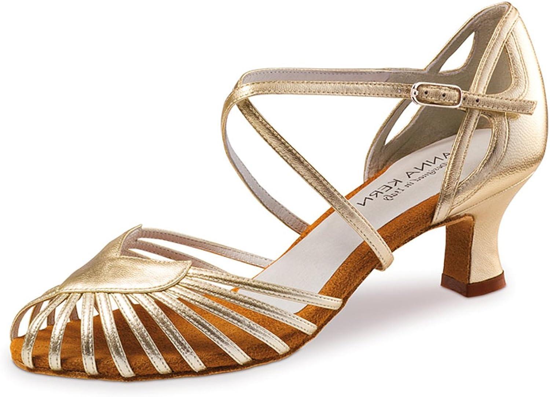 Anna Kern - Damen Tanzschuhe 536-50 - Leder Gold - 5 cm