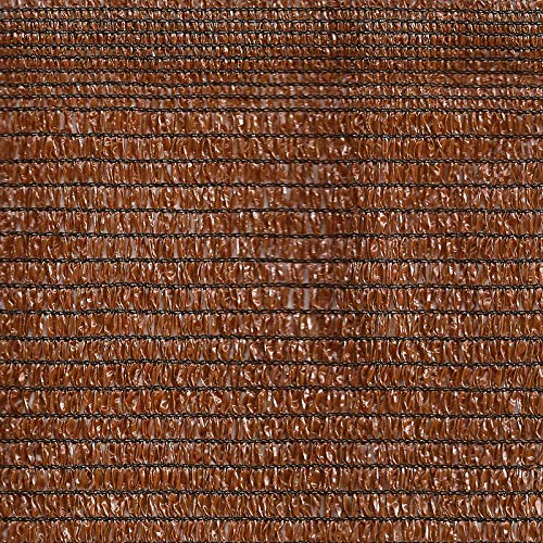 Malla de sombreo 90% o Malla de ocultación para terraza o jardín (2 x 100 mt, Marrón)