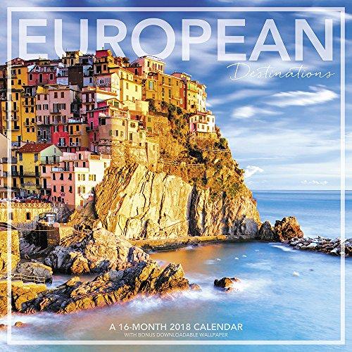 2018 European Destinations Wall Calendar (Landmark)