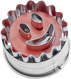 Dr. Oetker 1499 Emporte Pièces Linzer Ø5x3,5 cm Motif Smiley Argent, Acier Inoxydable, 5 x 5 x 3,5 cm