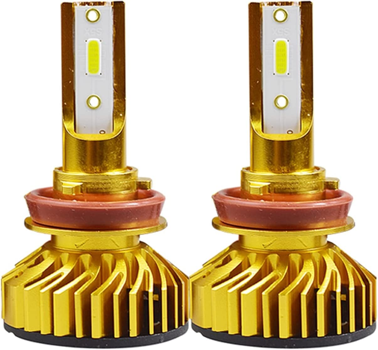 RH-HPC Faros LED Luz de Cabeza de Coche LED Ampolla H7 H4 LED H1 H119006 9005 HB3 HB4 9012 HIR2 72W 10000LM 6500K 12V 24V Auto Faro Bulbo Llevado (Socket Type : 9006/HB4)