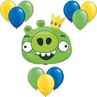 Angry Birds Green Balloon Bouquet 10 pc