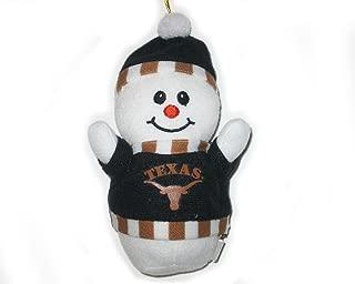 Texas Longhorns Plush Snowman Christmas Ornament