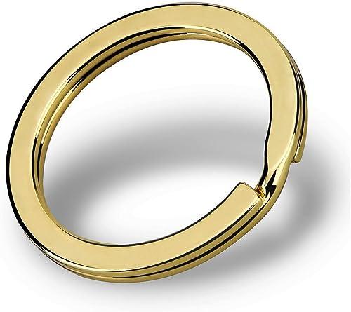 discount Z-BOND sale 30 Pieces Flat Key Chain Rings Metal Split Ring Round Keyrings Holder Clip for wholesale Home Car Keys outlet online sale