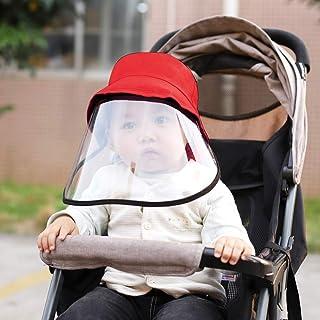 With Transparent Shield, Splash Anti-Spitting Anti-Fog Anti-Oil Protective Cap Kids Fisherman Hat Removable Face Shield(Bl...