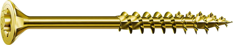 Spax/ filetage complet jaune galvanis/é passiv/é A2L 4CUT t/ête frais/ée Vis universelle 191020400605 /0191020350303 T-STAR plus