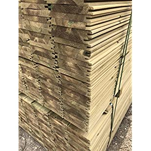 Tongue & Groove Cladding Thick Treated Wooden TGV Boards 121mm x 14.5mm (10, 1.8m):Lidl-pl