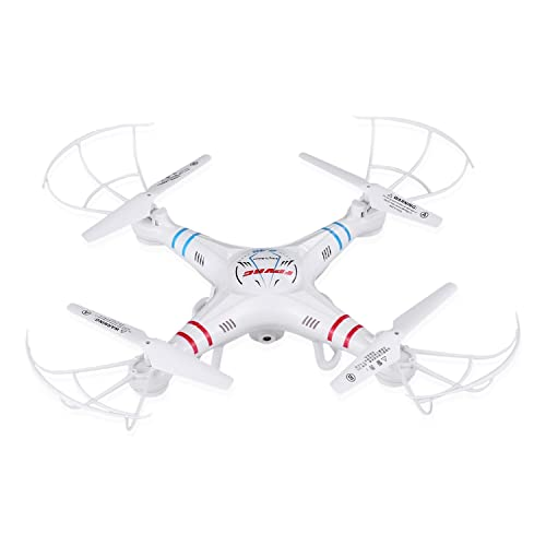 RC Quadcopter drone with 0.3MP HD Camera and Height Hold Function,FPVRC X5C-1 2.4G Headless 3D Flip Flying Airplane One key Home Remote Control Helicopter(White) (X5C-1)