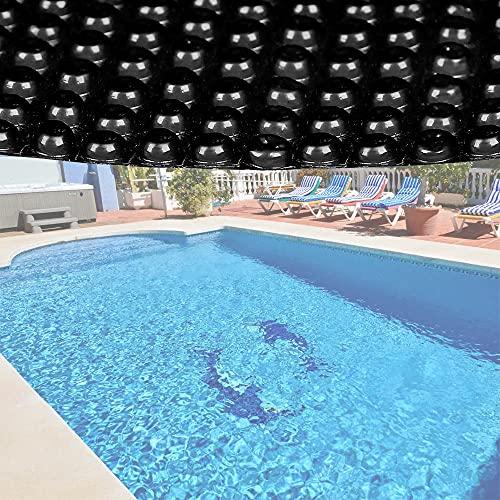 Bâche solaire à bulles pour piscine Ronde Ø 3.6m Noire Protection Couverture Chauffage de piscine