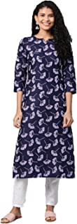 GoSriKi Women's cotton straight Kurta