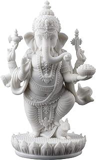 JFSM INC. Standing Ganesh (Ganesha) Hindu Elephant God of Success Statue, 7 1/2-inch