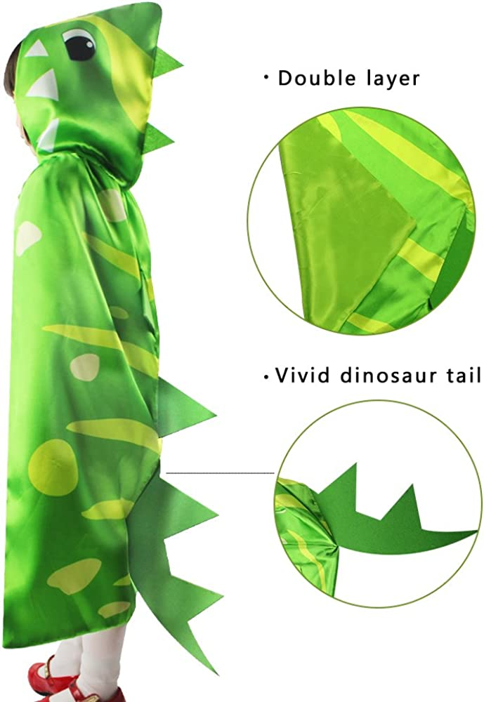 40% OFF Cheap Sale iROLEWIN Free shipping on posting reviews Dinosaur Hooded Spikes Cape Cosplay Dr Animal - Pretend