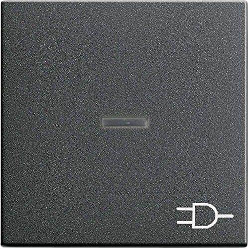 Gira 020928 Wippe Kontroll Symbol Steckdose System 55, anthrazit
