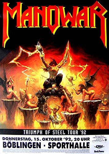 leonatica Konzertplakat Manowar Triumph of Steel Tour 1992 Böblingen