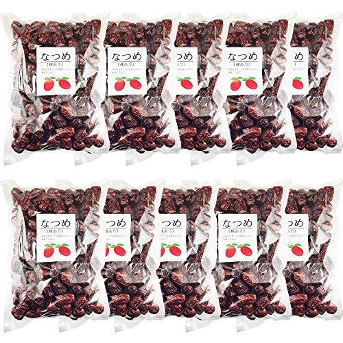 なつめ ドライフルーツ 赤棗 たいそう 大紅ナツメ 乾燥なつめ茶 薬膳料理 中華食材 乾燥果実 種あり赤なつめ乾燥 無添加 砂糖無し 大泡棗 (業務用10Kg)