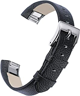 bayite Leather Bands Compatible with Fitbit Alta and Alta HR 5.5