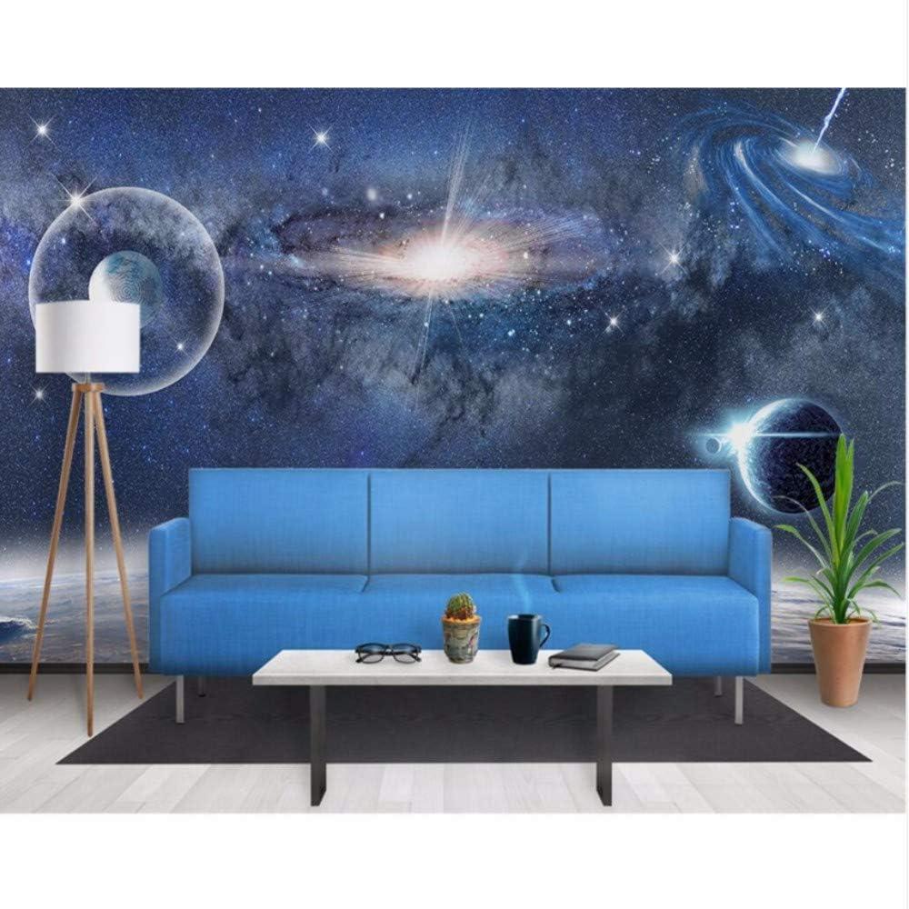 Amazon Com Pbldb Custom Wallpaper 3d Aesthetic Starry Space Black Hole Background Living Room Bedroom Tv Sofa Background 3d Wallpaper 280x200cm Furniture Decor