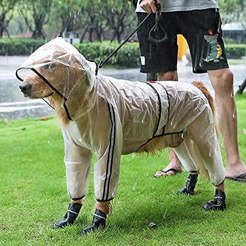 Chubasquero Transparente Perro,Poncho De Lluvia Impermeable Para Perros,Impermeable Chubasquero Para Perros ,Perro Chubasqueros,Mascota Perro Impermeables Con Capucha