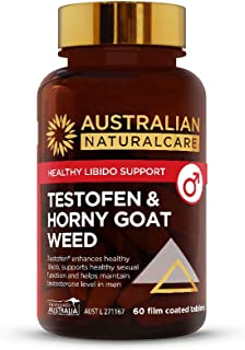 Australian NaturalCare - Healthy Libido Support - Testofen & Horny Goat Weed Tablets (60 Count)