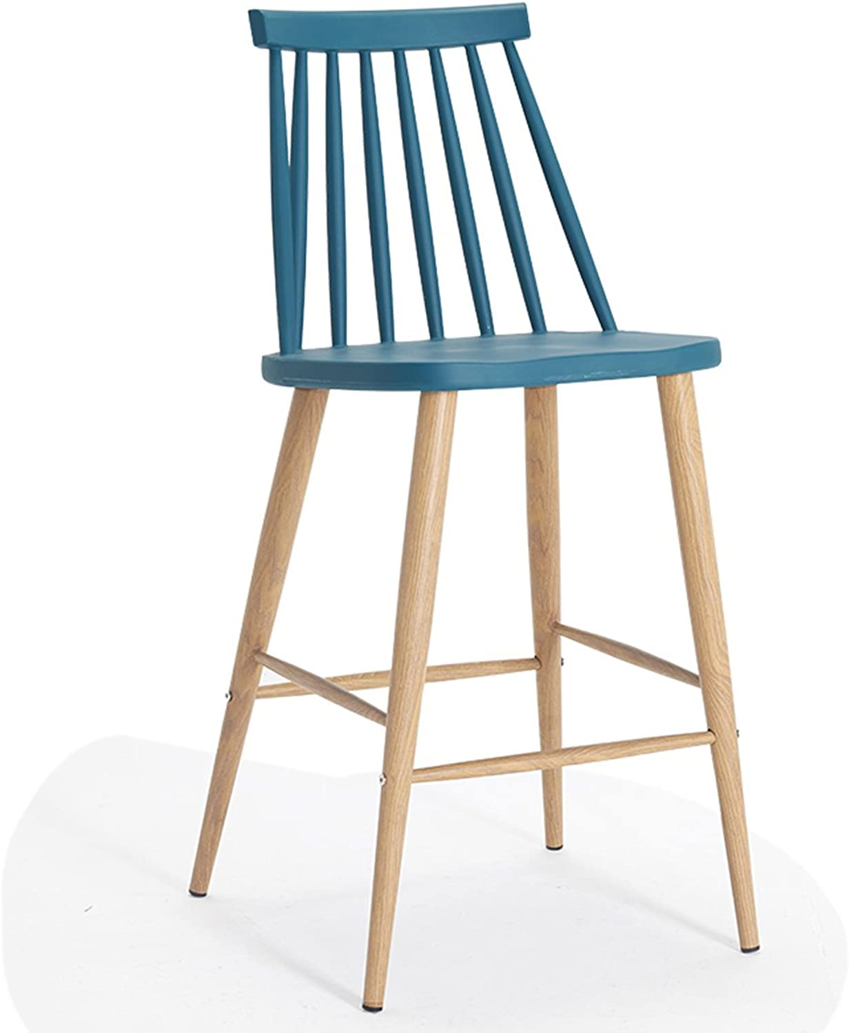 LRW Modern Fashionable Stool Bar, Bar Chair, Bar Stool, High Stool. (color   bluee)